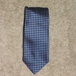 Ermenegildo Zegna Blue Diamond Foulard Silk Tie